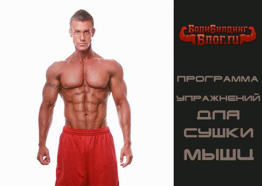 Программа упражнений для сушки мышц